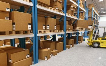 warehouse 3d background